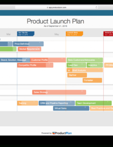 editable sample sales business plan emplate for rep computer and product launch schedule template
