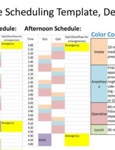 editable sample scheduling template dentist  ppt download dental hygiene schedule template word