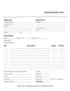 free 10 food order form templates  word docs  free & premium restaurant food order form template excel