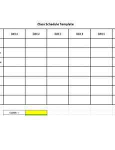 free 36 college class schedule templates weeklydailymonthly college class schedule maker template excel