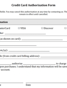free credit card authorization form templates download business card order form template sample