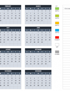 free excel calendar templates payroll schedule 2020 template doc