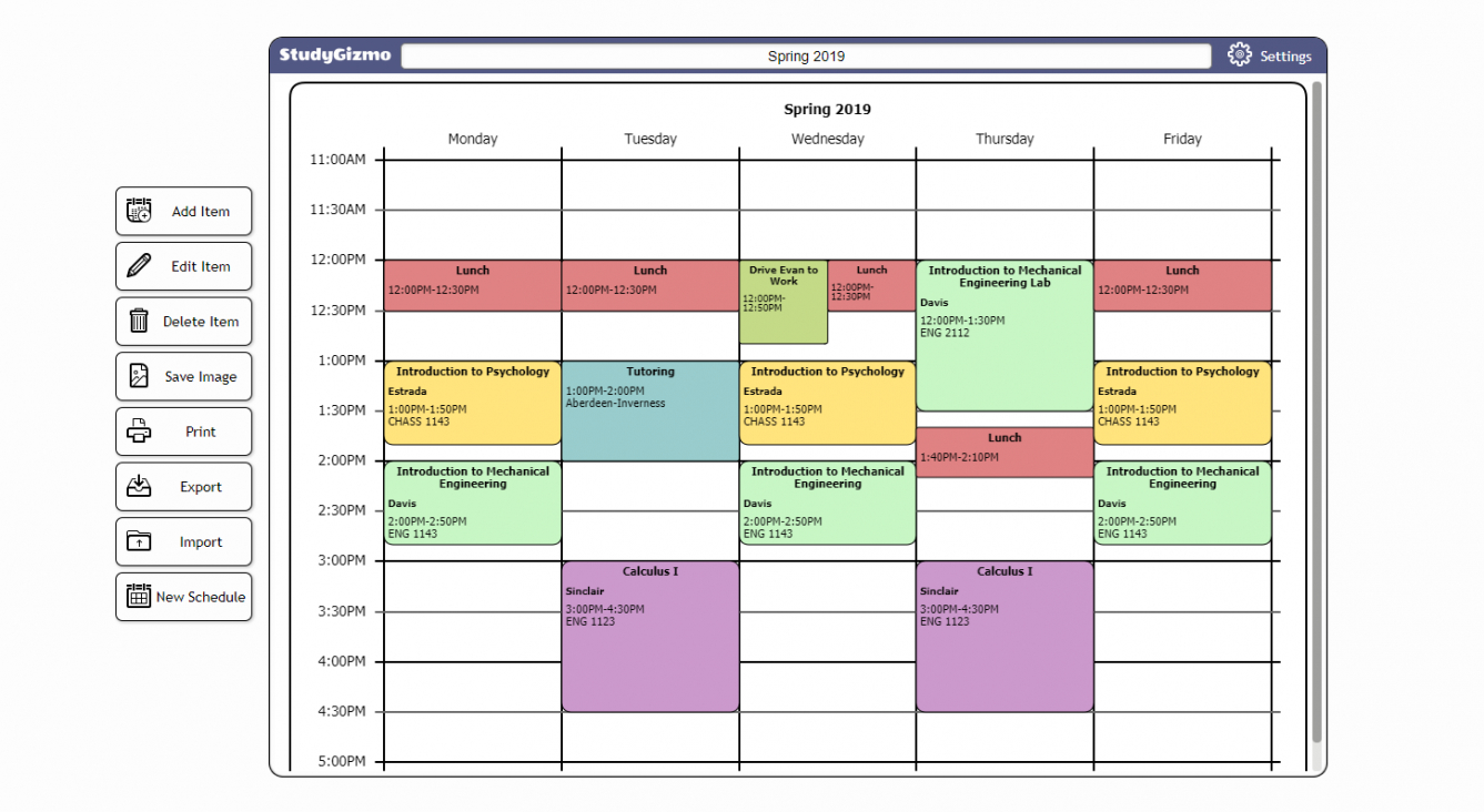 free free college schedule maker college class schedule maker template word
