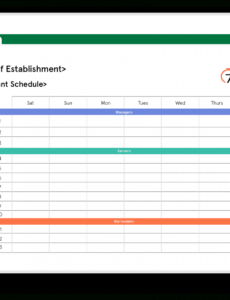 free restaurant schedule excel template  7shifts restaurant kitchen schedule template doc