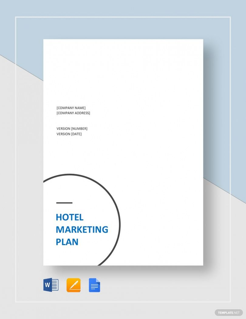 hotel marketing plan template  6 samples for word pdf format hotel marketing plan template word