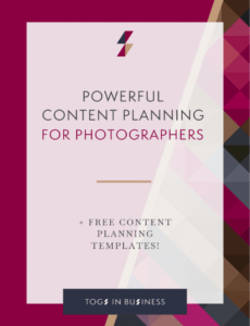 powerful content planning for photographers  how to do more photography marketing plan template