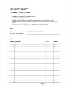 printable free 9 stationery requisition forms in pdf  ms word stationery purchase order template example