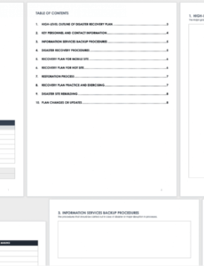 printable free disaster recovery plan templates  smartsheet business continuity disaster recovery plan template sample