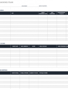 printable free training plan templates for business use  smartsheet new hire training schedule template sample