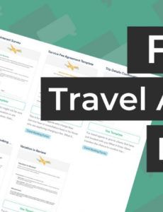 printable free travel agent forms  templates for travel agencies travel agent commission template word