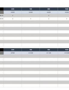 printable free weekly schedule templates for excel  smartsheet 2 week look ahead schedule template