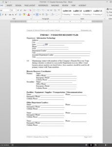 printable it disaster recovery plan template  itsd1041 website disaster recovery plan template doc