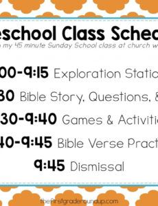 printable preschool sunday school schedule  firstgraderoundup sunday school schedule template doc
