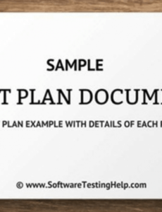 printable sample test plan document test plan example with details of software quality assurance test plan template sample