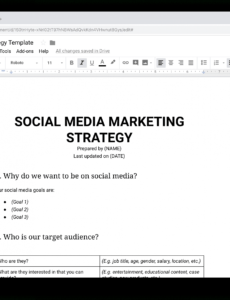 printable social media marketing strategy the complete guide for digital media marketing plan template