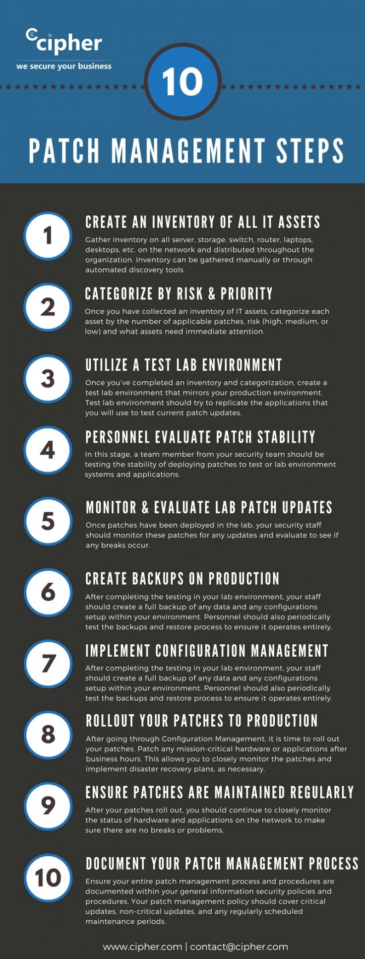 sample 10 step patch management process template  cipher patch management plan template example