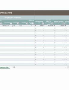 sample 13 depreciation schedule templates free  word excel templates monthly depreciation schedule template