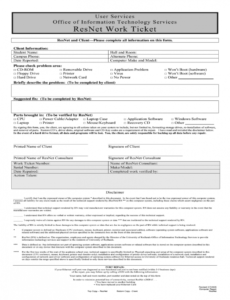sample computer repair form  fill online printable fillable computer repair order form template word