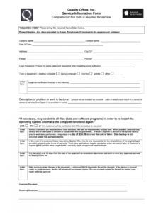 sample computer repair intake form  fill out and sign printable pdf template   signnow computer repair order form template word