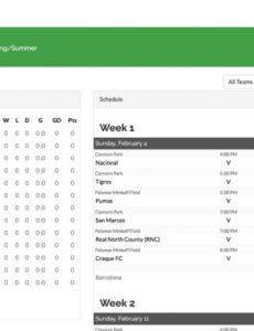 sample league & tournament schedule generator  leaguelobster 5 team softball schedule template word