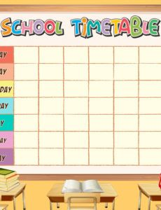 sample school timetable template with classroom theme  download kindergarten classroom schedule template word