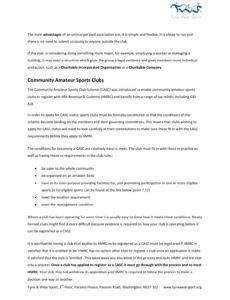 sample unincorporated association  tyne & wear sport pages 1  7 charity commission template constitution excel
