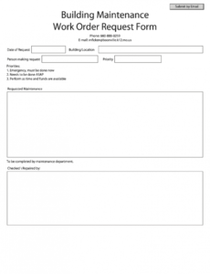 sample work order  fill online printable fillable blank residential work order template example