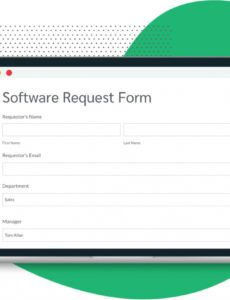 software request form template  route data  formstack software order form template doc