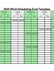 14 dupont shift schedule templats for any company free 4 crew 12 hour shift schedule template example