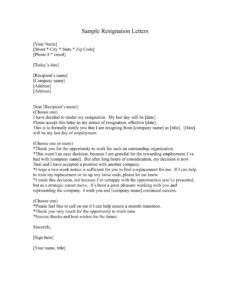 17 resignation letters examples in pdf  ms word  examples heartfelt resignation letter template example