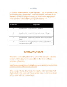 contract milestones checklist  3 easy steps milestone payment schedule template example