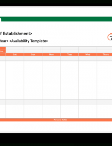 editable download free staff availability template for restaurants work schedule availability template word