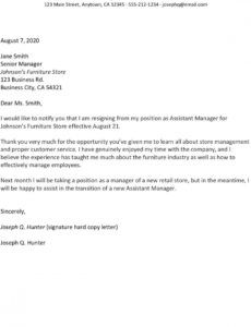 editable how to write a resignation letter with samples at will employment resignation letter example
