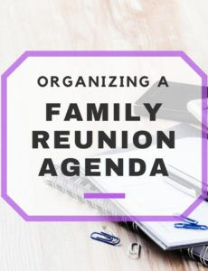 editable organizing your family reunion agenda family reunion schedule of events template