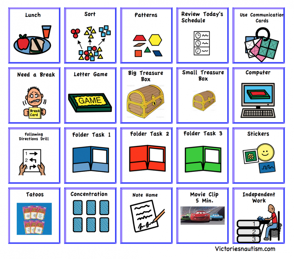 editable schedule activity and task cards autism visual schedule template excel