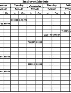 editable work schedule template  think moldova security guard schedule template
