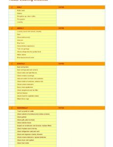 free 40 printable house cleaning checklist templates  templatelab house maintenance schedule template pdf