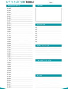 free 47 printable daily planner templates free in wordexcelpdf daily workout schedule template sample