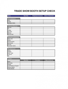 free checklist trade show booth setup template businessina trade show booth schedule template doc