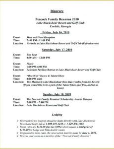 free family reunion event schedule template meeting minutes family reunion schedule of events template sample