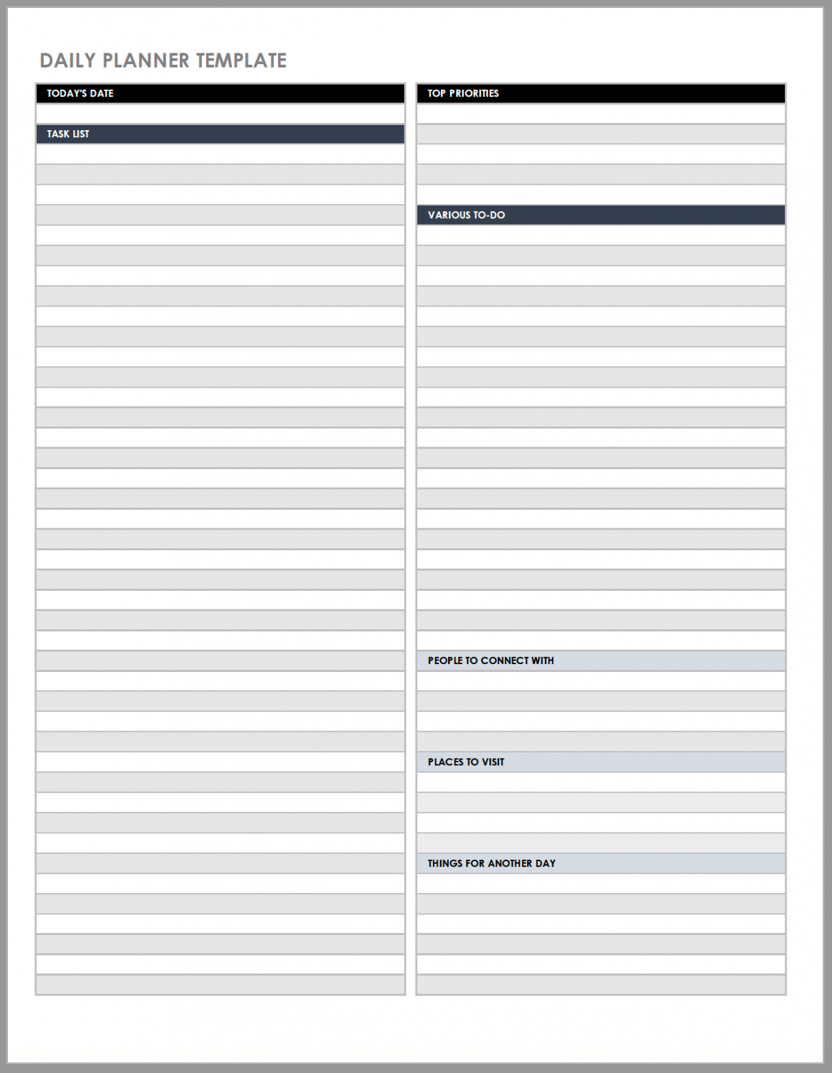 free free daily work schedule templates  smartsheet daily task schedule template sample