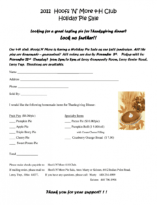free fundraiser ordering templates printable  fill online pie order form template