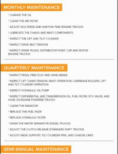 free ultimate guide to forklift maintenance  limble cmms forklift maintenance schedule template pdf