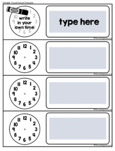 free visual school schedule {free!}  this reading mama autism visual schedule template