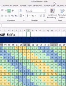 how to make an automatic 12hour shift schedule 4 crew 12 hour shift schedule template pdf