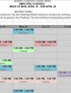 monthly shift schedule template  culturopedia supervisor schedule template example