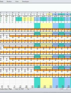 printable 40 creative production schedule template in excel now with manufacturing schedule template pdf
