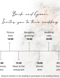 printable best 5 wedding timeline templates to download for free  wedbox wedding planning schedule template