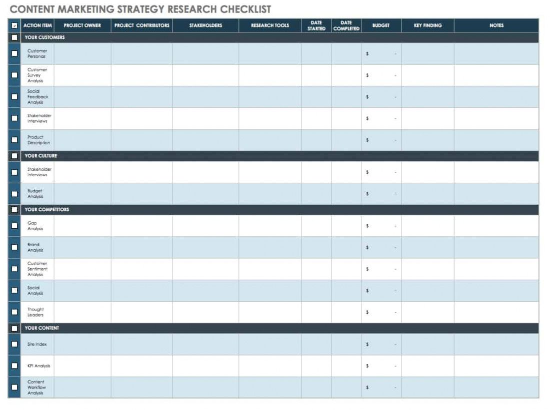 printable free content strategy templates  smartsheet content marketing schedule template pdf