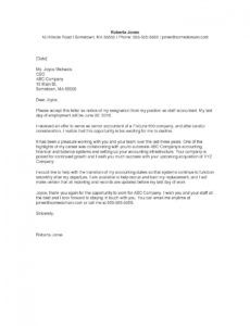 printable resignation letter  monster thank you letter after resignation example